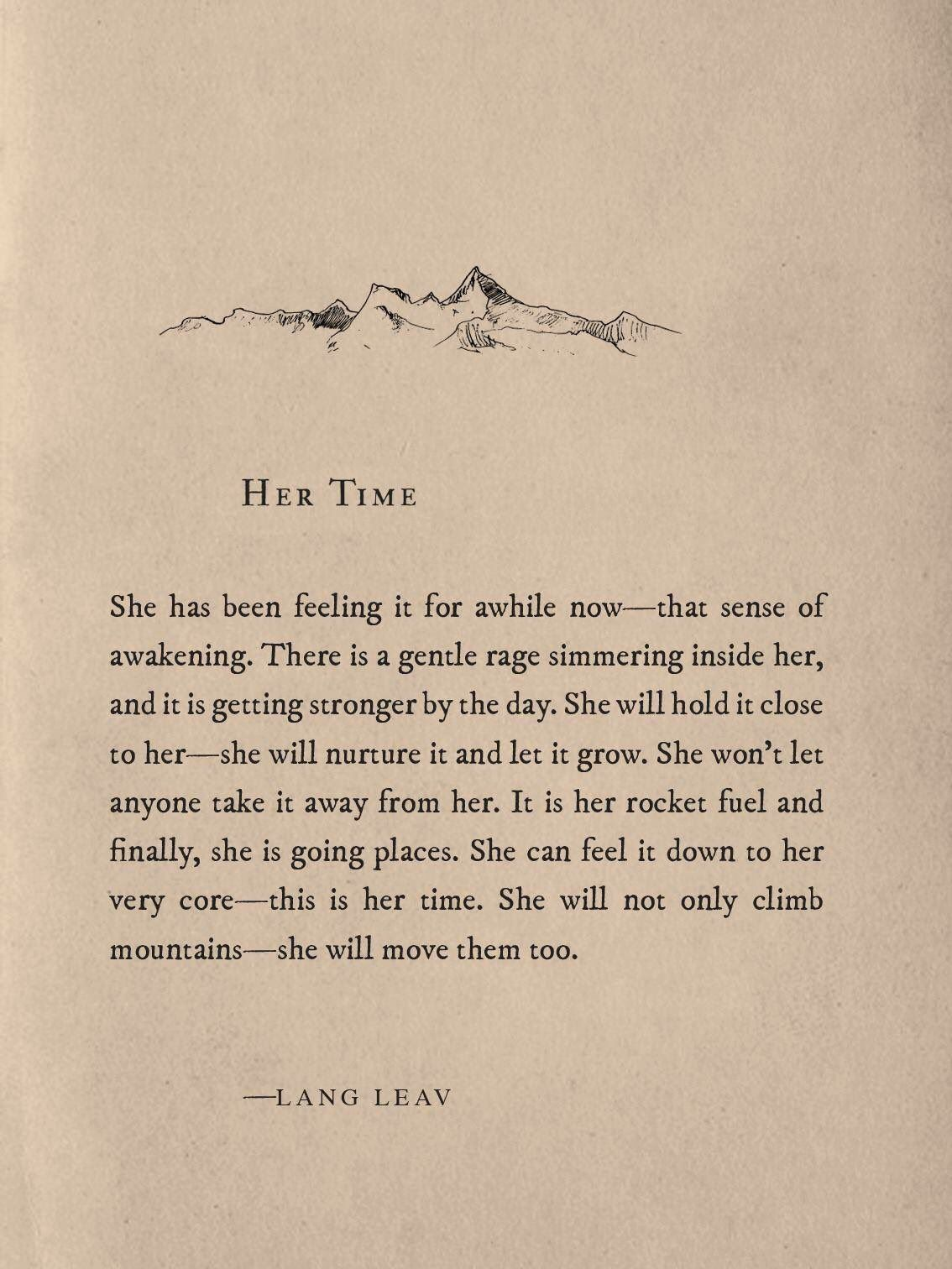 """Lang Leav on Twitter: """"Time to move those mountains ✨ https://t.co/KDDeZyZE4Z"""""""