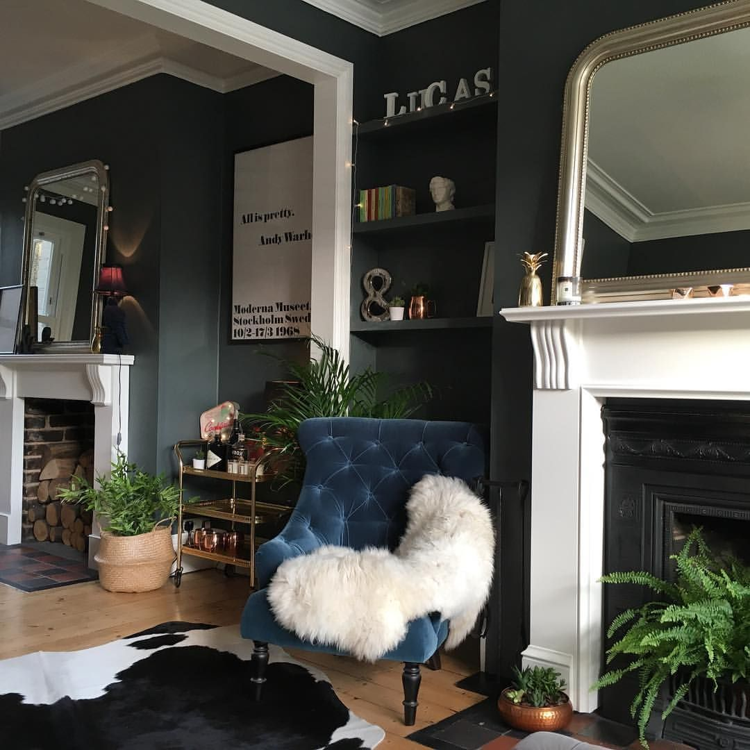 color design can set the tone for your living room find fresh also elegant dark paint ideas rh pinterest