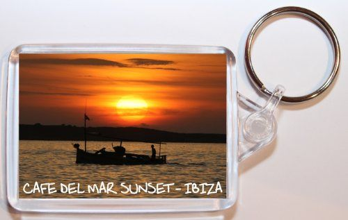 Cafe Del Mar Sunset - Ibiza - Spain - Double Sided Large Keyring Gift/Present/Souvenir Baked Bean Store http://www.amazon.co.uk/dp/B00IREV2A8/ref=cm_sw_r_pi_dp_We6lwb0T48G5V