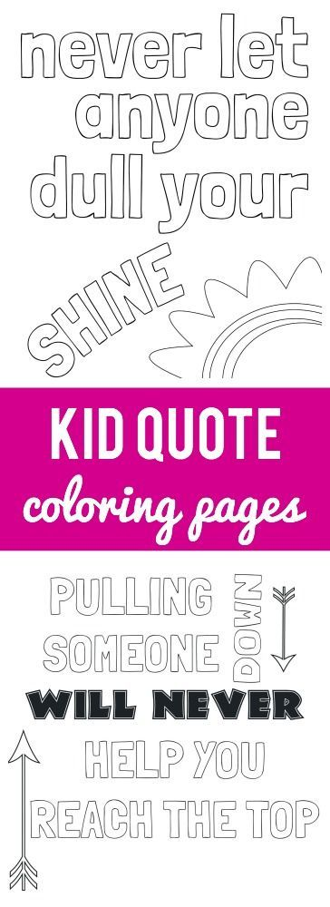Kid Quote Coloring Pages | Ausmalen