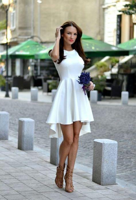 15 Vestidos blancos para tu boda por el civil | Boda civil, Vestidos ...