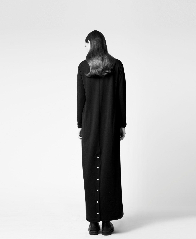 Karin a long black maxi dress comfortable urban by karinaonetsy