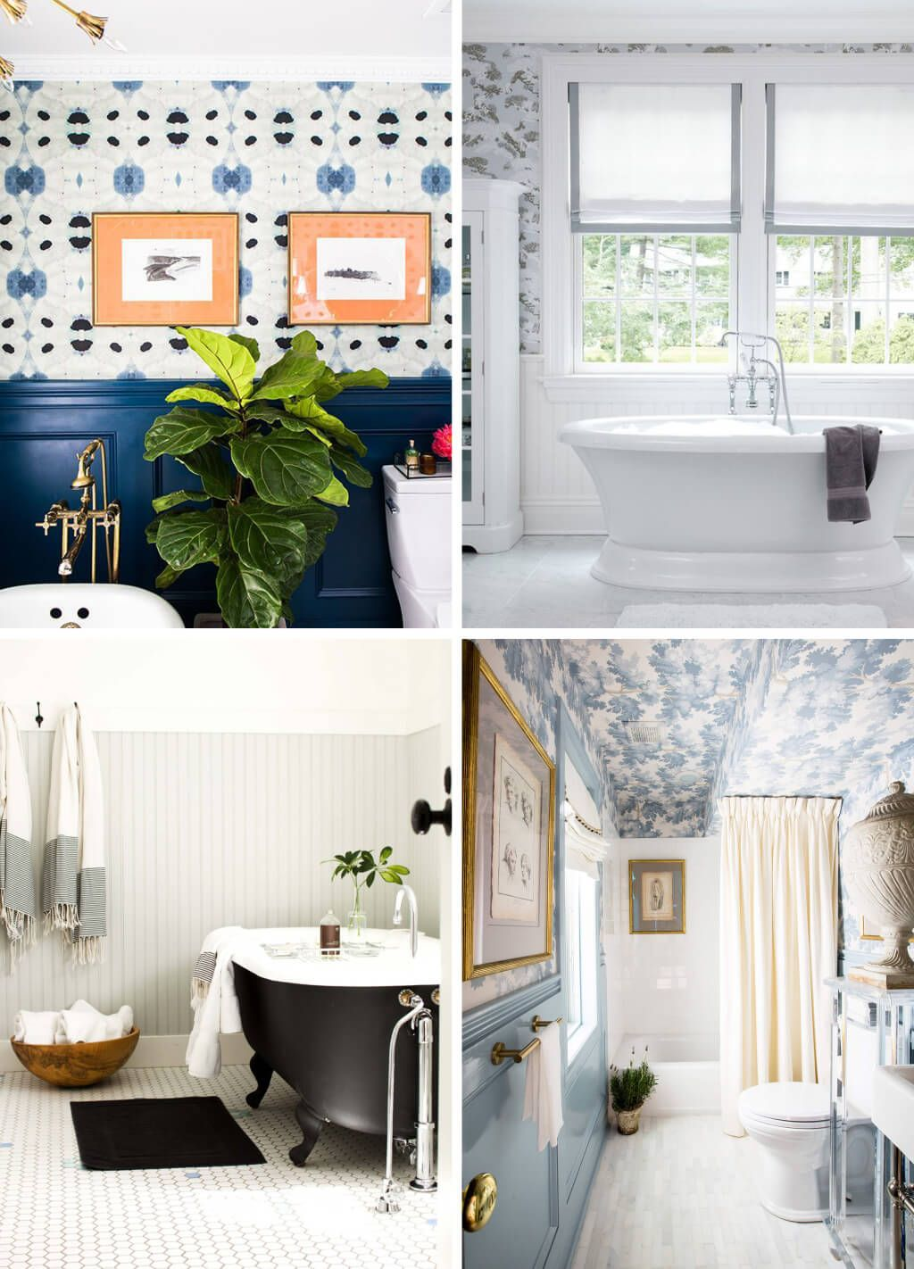 Top left quadrant - richly colored wainscoting, great wallpaper ...