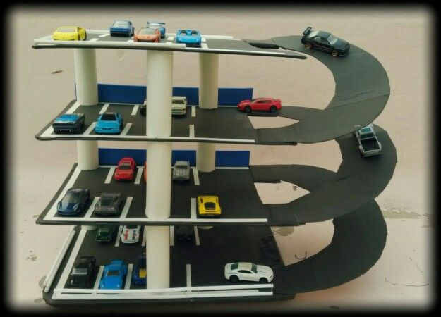 Hotwheels Parking Garage Homemade With Recycled Materials Such As