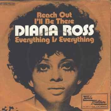 """DIANA ROSS """"Reach Out I'll Be There"""" single 1971 