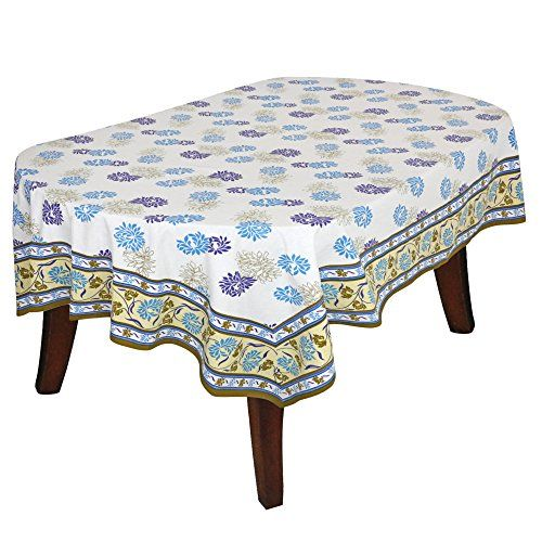 Table Decor Accessories 60x84 Inchrectangular Floral Tablecloth Colorful Print Cotton Indian Table Cloth Decor Tablecloths For Sale