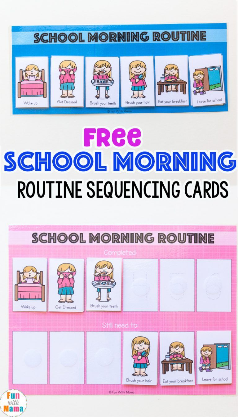Kids Schedule Morning Routine For School #morningroutine