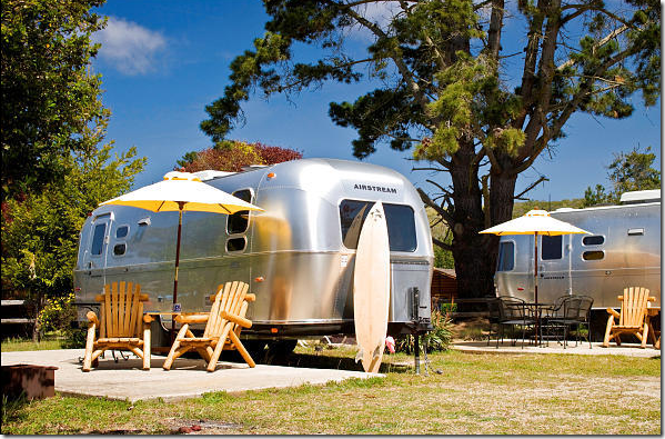 RV park in Malibu. This trailer park provides the Airstreams – you don't have to bring your own.