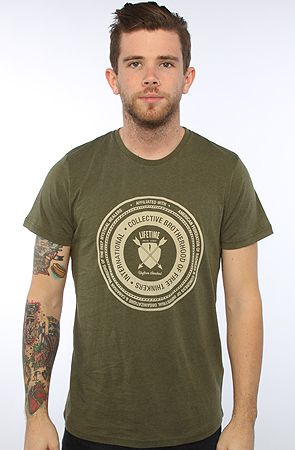 The Brotherhood Tee in Heather CapersGreen S|XL|L|M