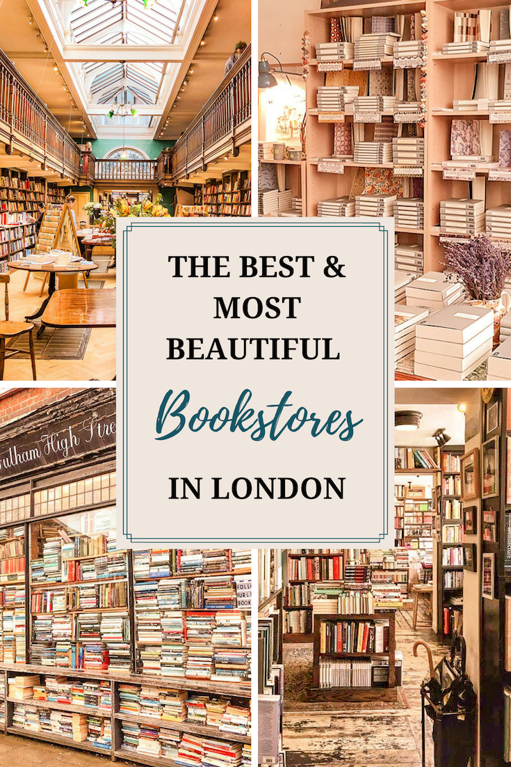 From bookstores that will make you feel like you've stepped into the library from Beauty and the Beast to ones that feel like you've stepped into someone's living room, this list of best bookshops in London covers the beautiful, cozy and unique bookshops in London. #bookshops
