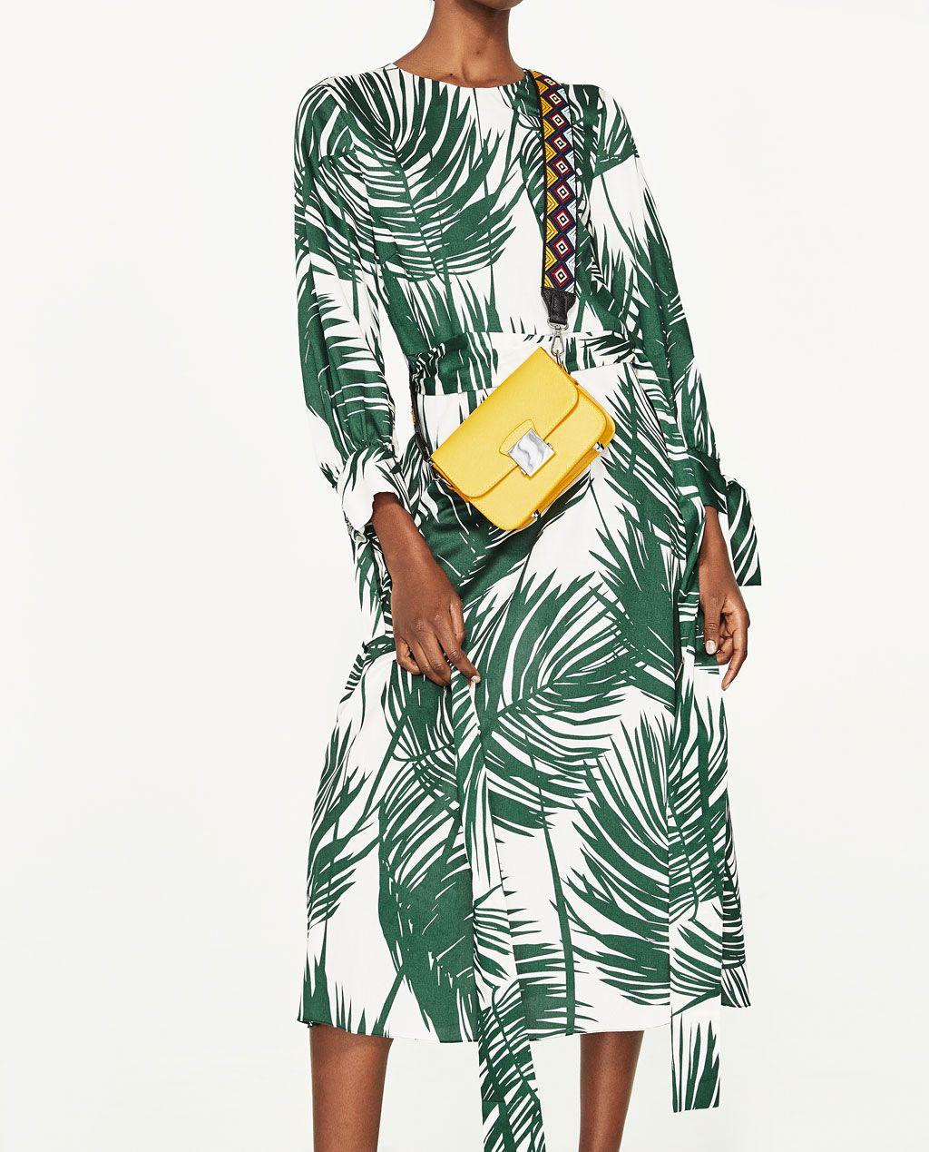 9ce2f66c PRINTED MIDI DRESS-DRESSES-WOMAN | ZARA Canada | summer fashion ...