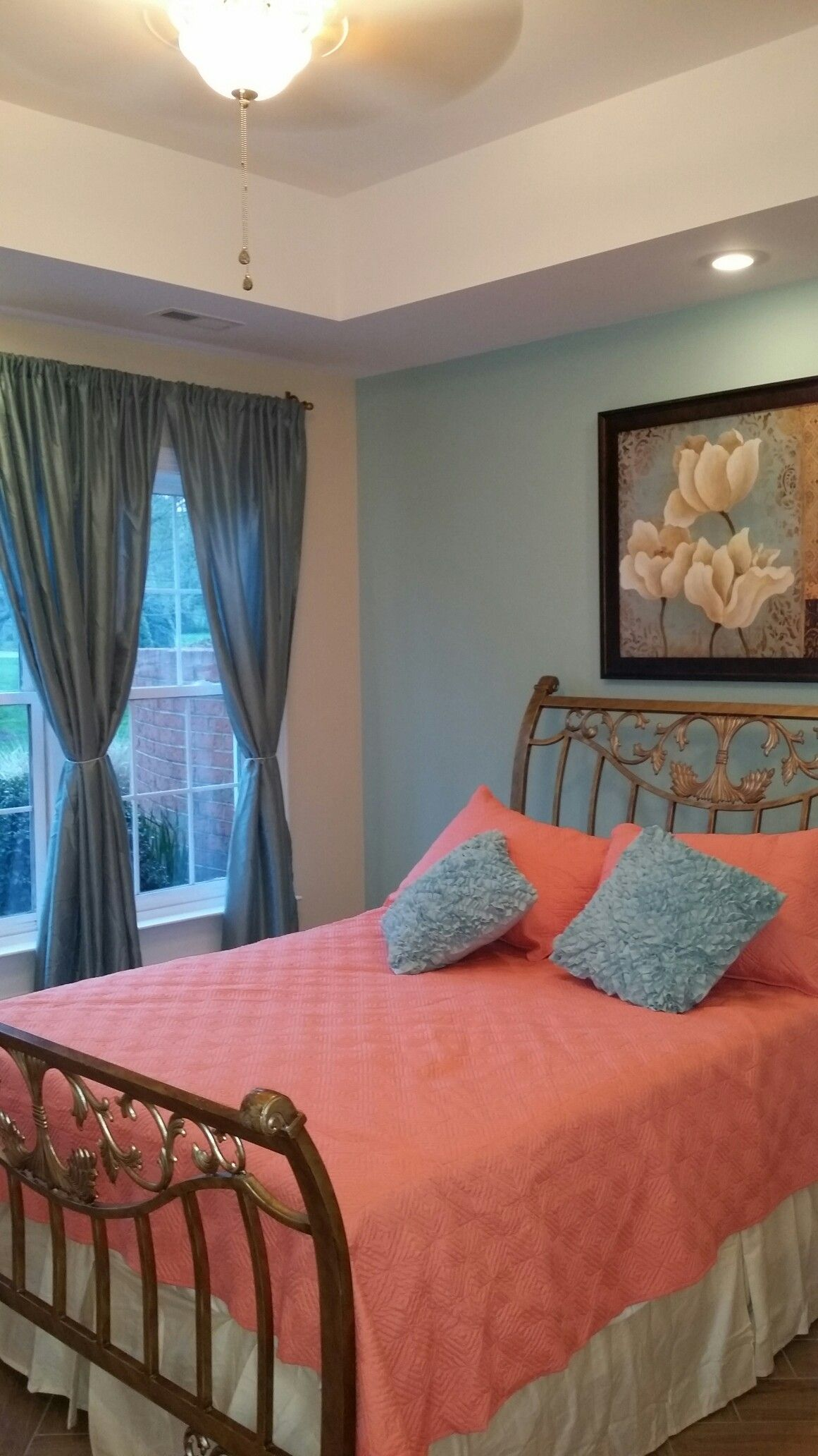bedroom with tray ceiling  home decor furniture decor