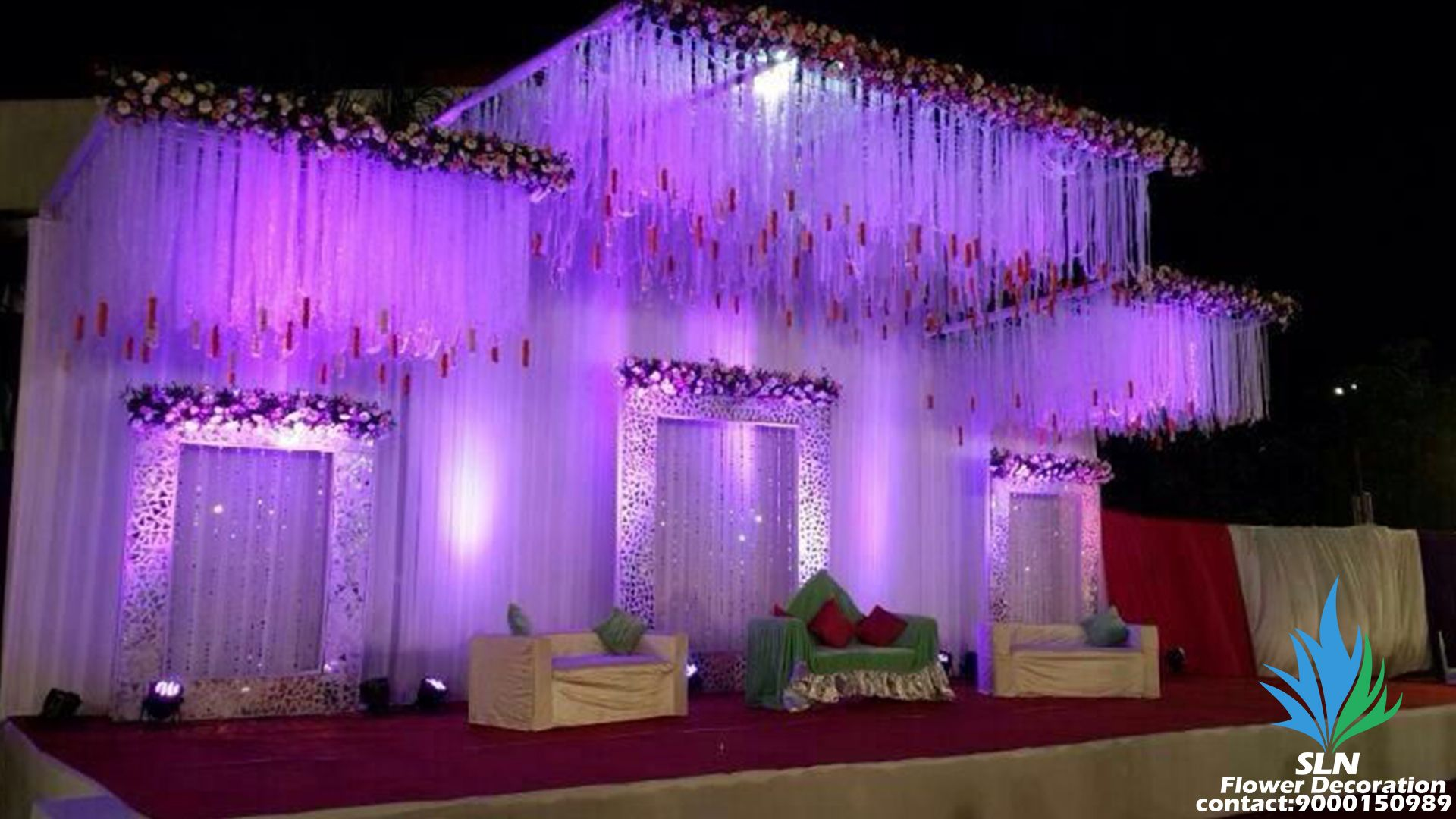 Reception stage 1 | Wedding stage design, Stage decorations ...