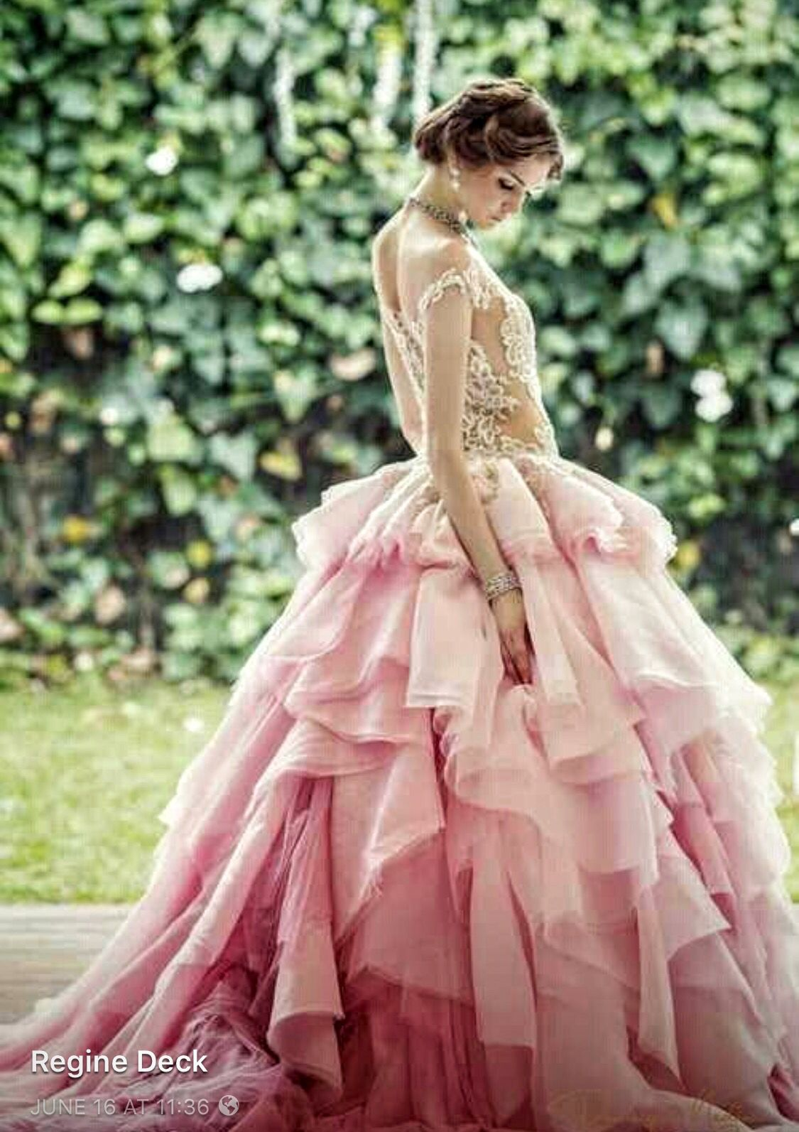 Asombroso Vestido De Novia De Color Rosa Rubor Ideas Ornamento ...