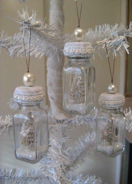 Jar Ornaments Christmas Crafts Christmas Diy Chic Christmas