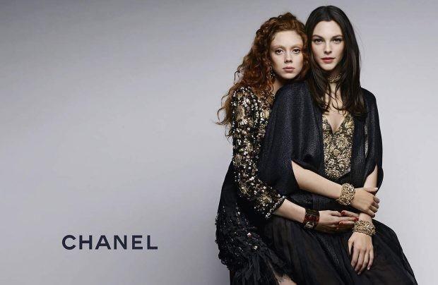 Chanel Pre Fall 2017 (Chanel),  Natalie Westling and Vittoria Ceretti by Karl Lagerfeld - Photographer -, Carine Roitfeld - Editor -, Sam McKnight - Hair Stylist -, Tom Pecheux - Makeup Artist -.