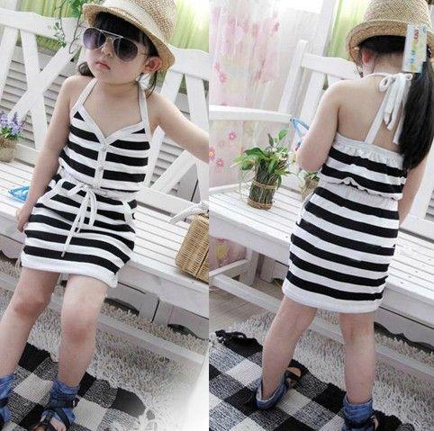 retail girls summer sleeveless dress kids dresses children