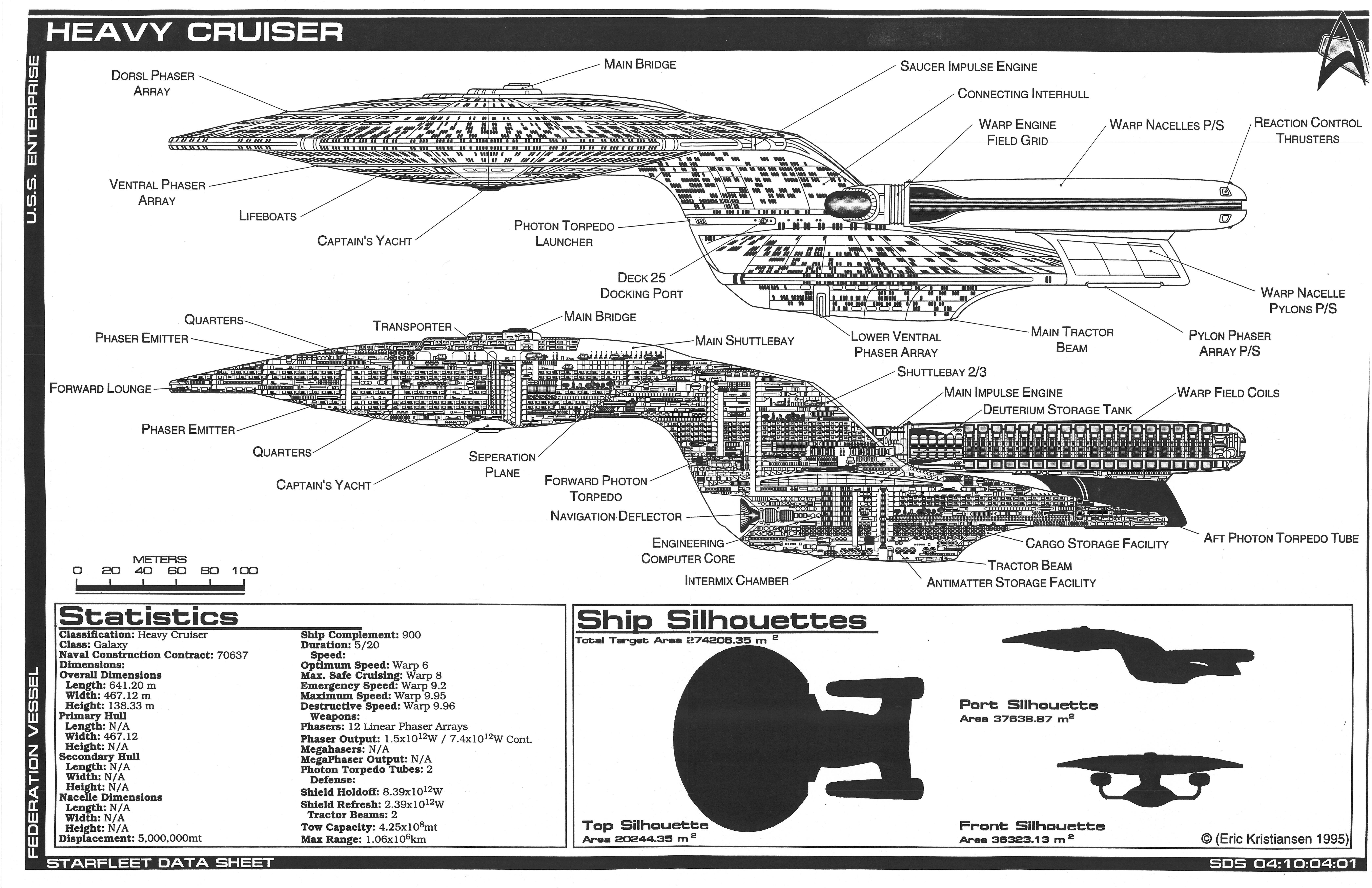 uss enterprise diagram softball field template schematic of u s ncc 1701 d star trek