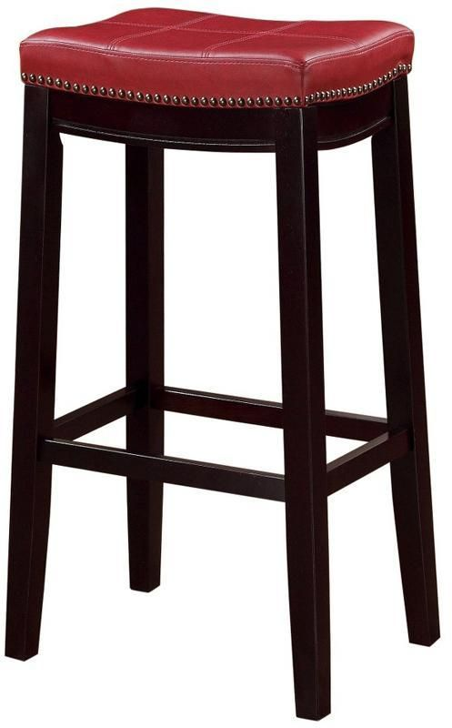 linon 55816red01u claridge red bar stool bar stool and products