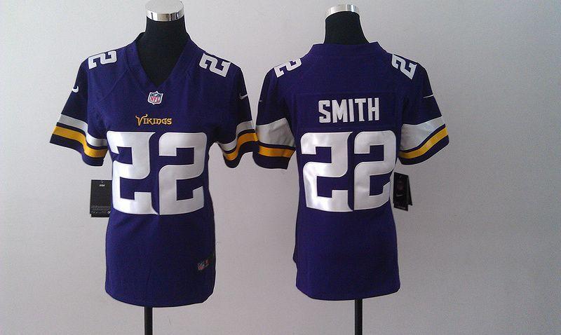 Womens Minnesota Vikings 22 Harrison Smith Purple Nike Jerseys ... 8e4ba218c