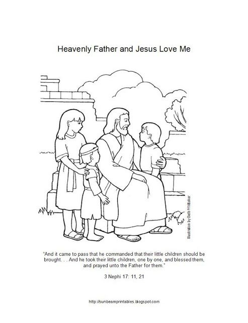 Lesson 6: Heavenly Father and Jesus Christ Love Me - Allow the ...