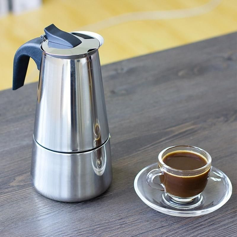 Espresso Coffee Maker/Brewer Kettle, Stainless Steel Coffee Brewer Pot at Home Barista, Pot Sizes 100/200/300/450ml #espressoathome Espresso Coffee Maker/Brewer Kettle, Stainless Steel Coffee Brewer Pot at Home Barista, Pot Sizes 100/200/300/450ml #espressoathome