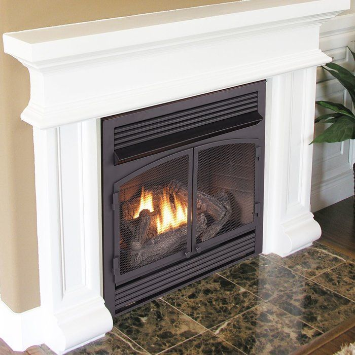 Vent Free Recessed Natural Gas Propane Fireplace Insert W Remote