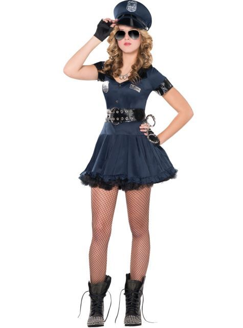 I want this costume! Teen Girls Locked N Loaded Cop Costume ...