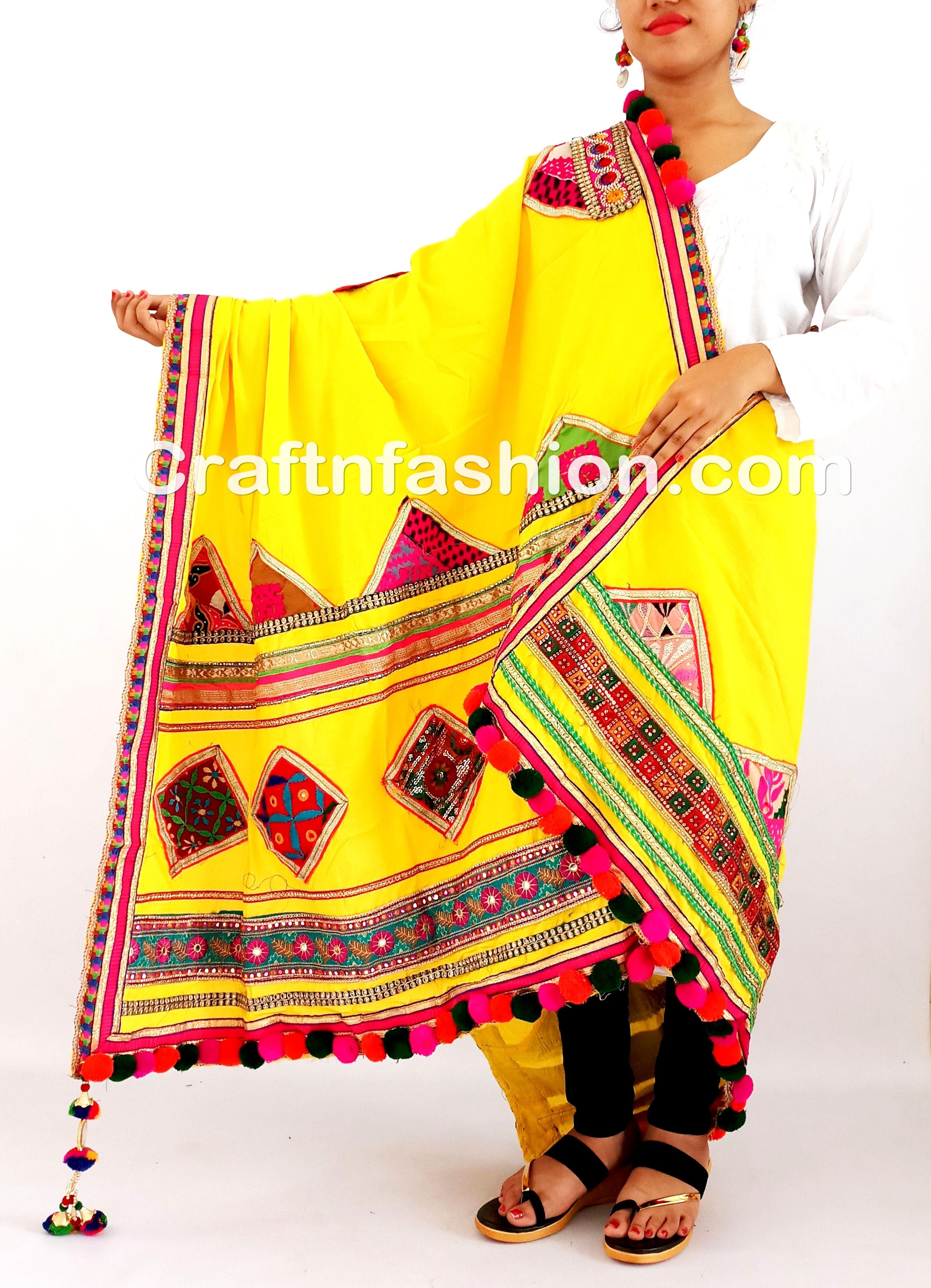 Kutch Embroidery Banjara Dupatta Cotton Kutch Dupatta With Beautiful Thread Work