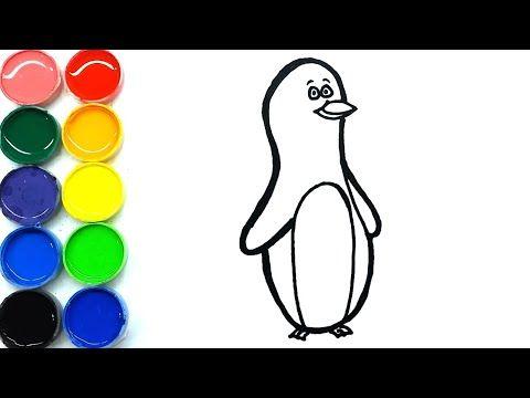 Menggambar Dan Mewarnai Pinguin Lucu Untuk Anak Di 2020 Gambar