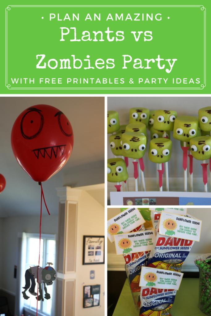 Plants Vs Zombies Party Ideas Printables