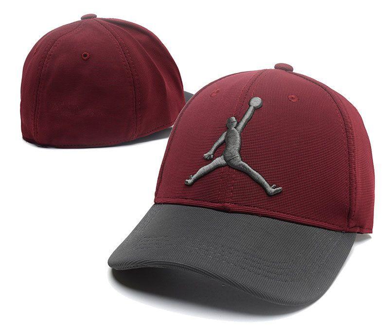 741872e8c6f Men's / Women's Air Jordan The Jumpman 3D Logo Flexfit Dad Hat - Maroon /  Charcoal