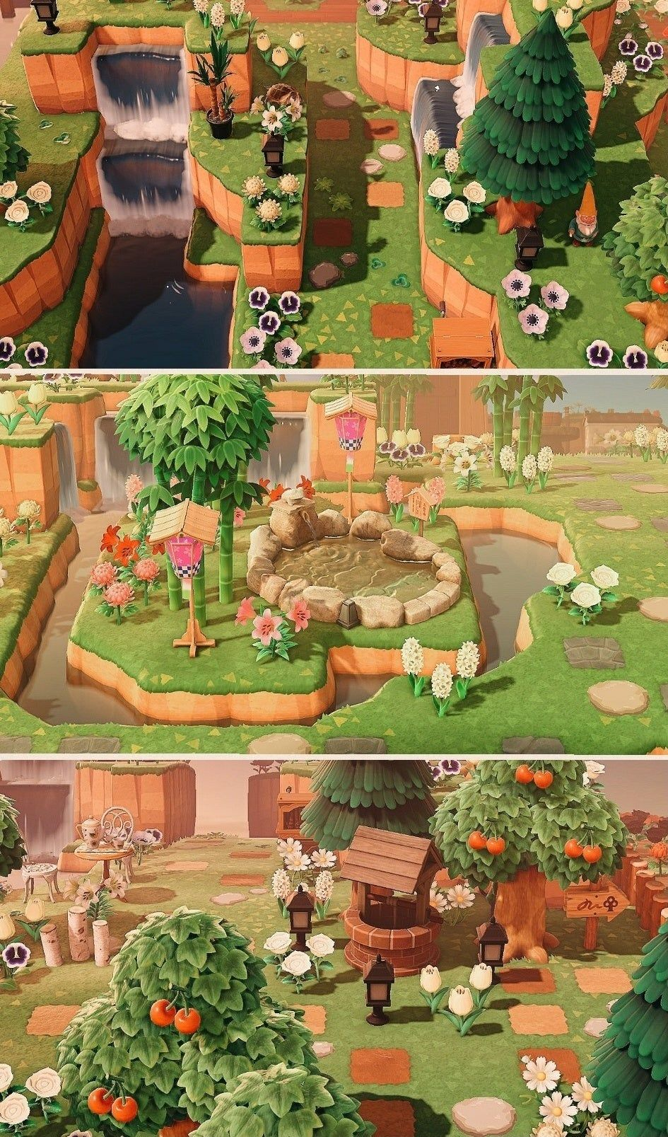Reddit Animalcrossingdesign Just Wanted To Share Some Of My Favorite Spots On My Island Fee Animal Crossing Wild World Animal Crossing New Animal Crossing