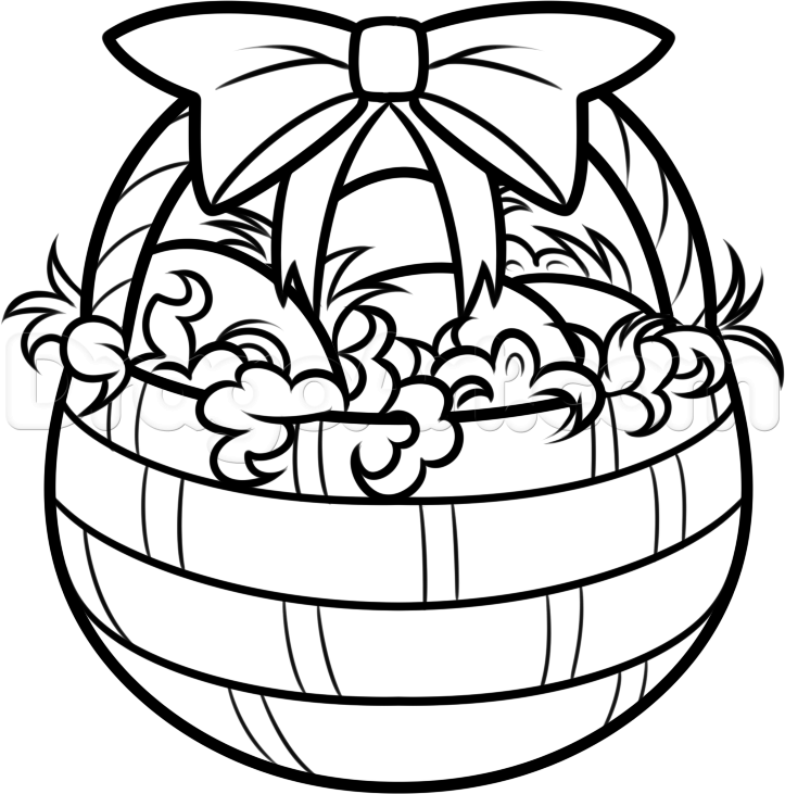 Easter Basket Coloring Pages Printable