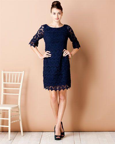 Lilly Pulitzer 'Shayna' True Navy Lace Dress