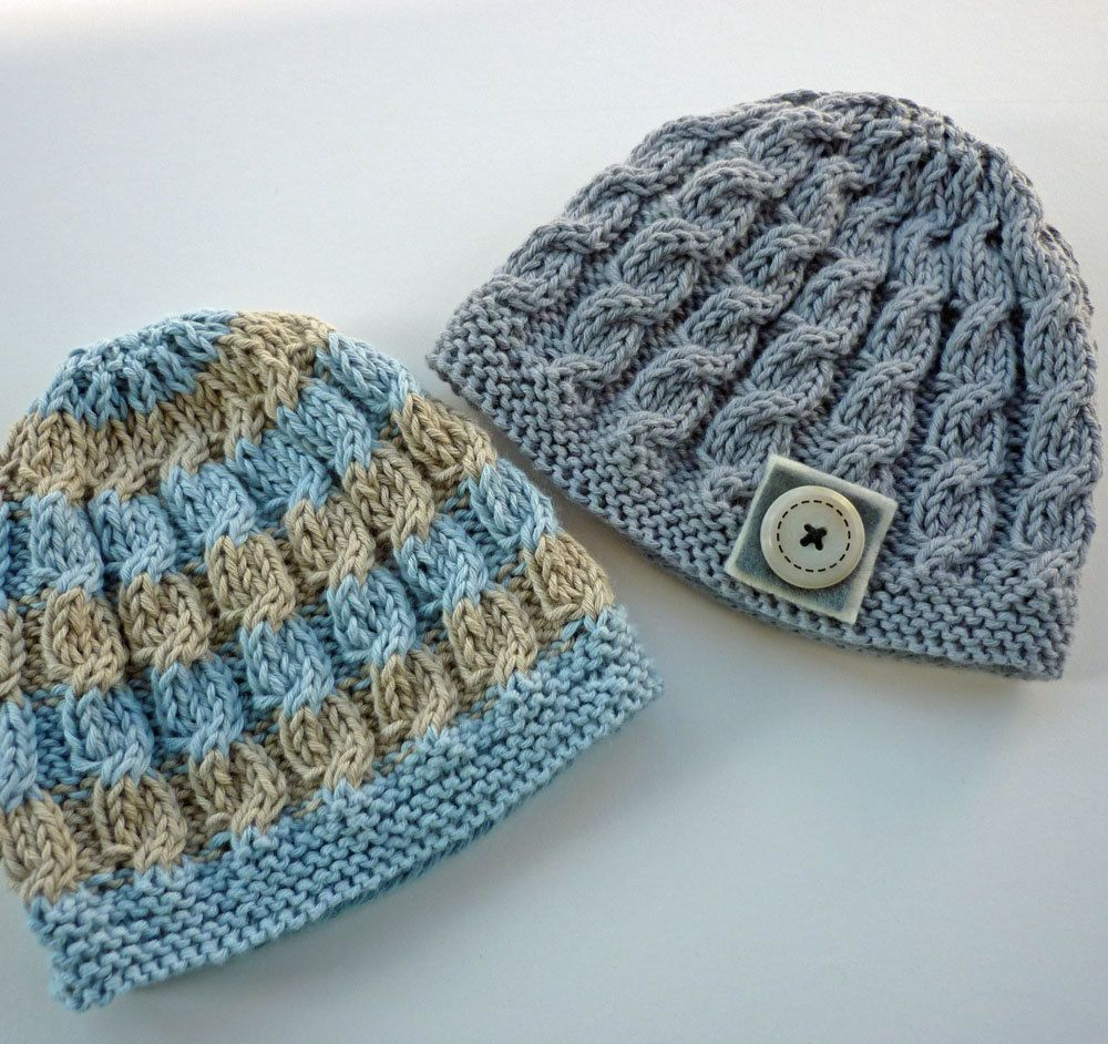 Baby Hat Knitting Pattern PDF with cable design - HARPER. $4.00, via ...