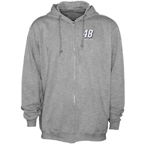 NASCAR Jimmie Johnson Numbered Front Full Zip Hoodie Sweatshirt - Ash - http://www.autosportsart.com/nascar-jimmie-johnson-numbered-front-full-zip-hoodie-sweatshirt-ash - http://ecx.images-amazon.com/images/I/51yRpZWI%2B5L.jpg