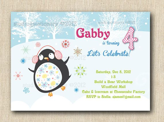 Happy Penguin Party  24 by StudioGStationery on Etsy, $48.00