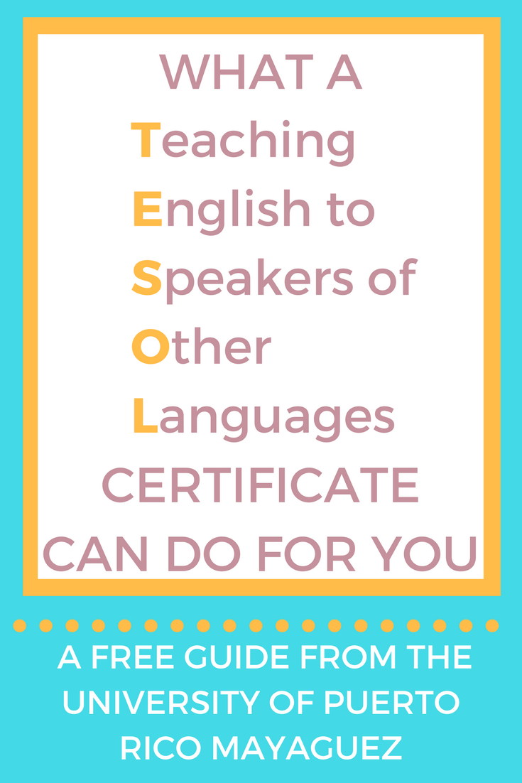 A Tesol Certificate Is A Professional Certification In Which You