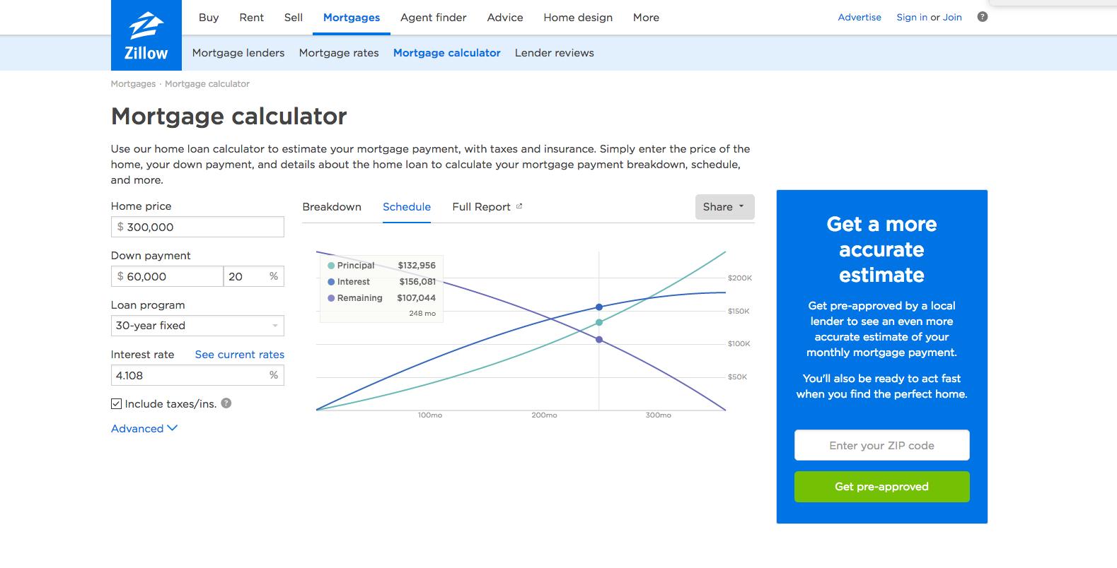 explore mortgage calculator and more
