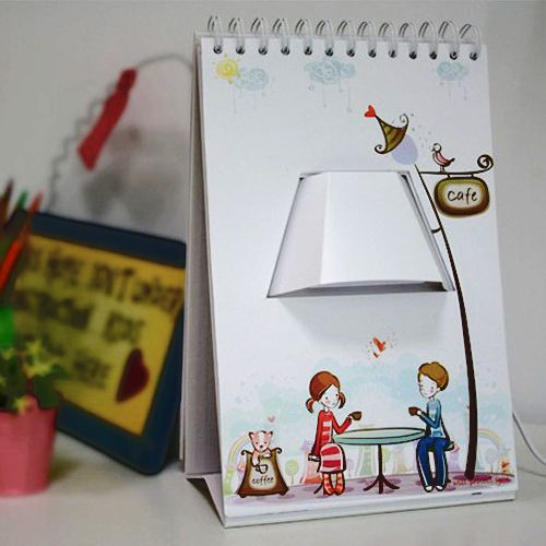 Creative Diy Gift Graffiti Desk Lamp Page By Page Table Lamp