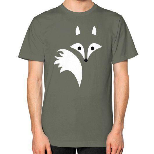 Fox Lines Unisex T-Shirt (on man)