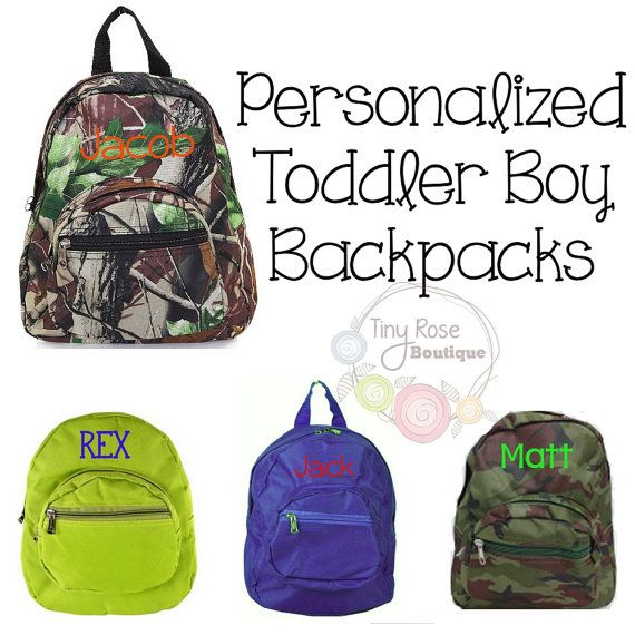 Toddler Boy Backpacks Personalized School Bag Book Mini Backpack