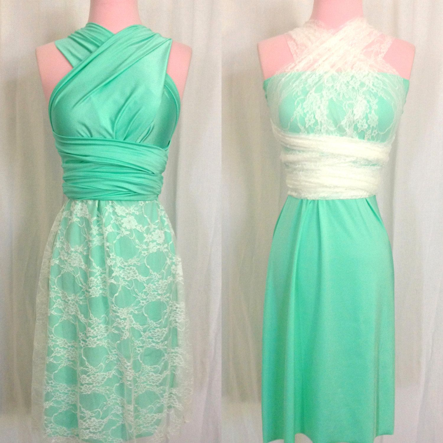 Convertible Dress with Lace Skirt or Straps... by StaysiLee, $150.00 ...