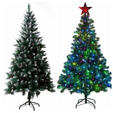 17 81 To 73 81 7ft Christmas Tree Artificial Tree Metal Stand Snow Tips Colorful Led Lights Th 7ft Christmas Tree Christmas Tree Artificial Xmas Trees