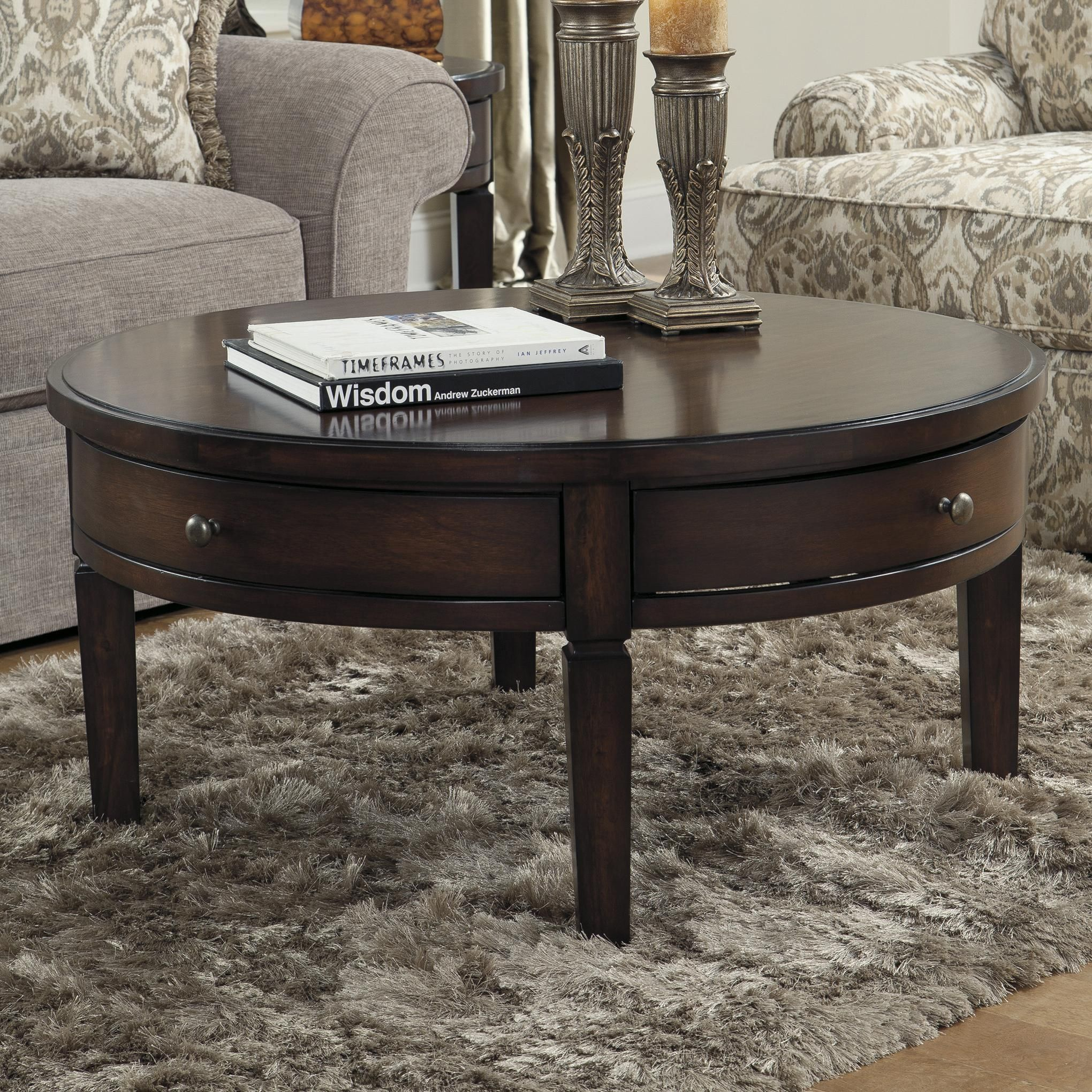 Holloway Round Cocktail Table by Signature Design by Ashley