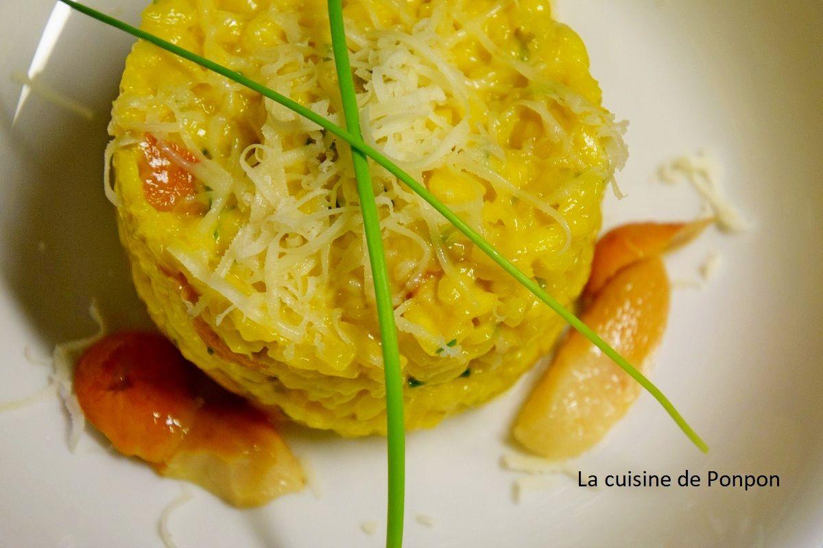 Risotto aux champignons parfumé au safran - La cuisine de ...
