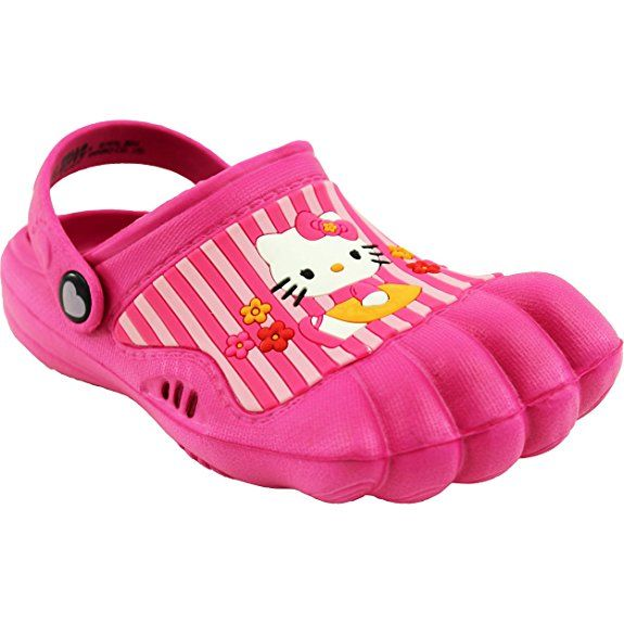 Clearance Hello Kitty Kids Pink Silly Feet Clogs 5 6 M