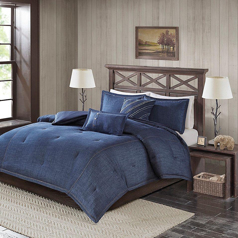 Woolrich Perry Denim King California King Comforter Set In Blue