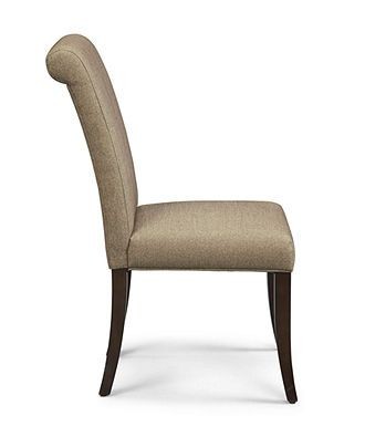 Bradford Scroll Back Upholstered Parsons Chair | Side chair ...